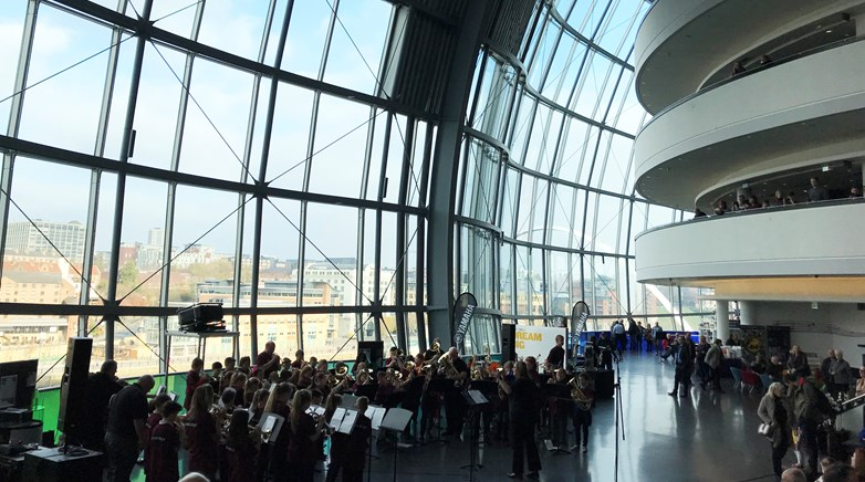 Brass band perform at the Sage!